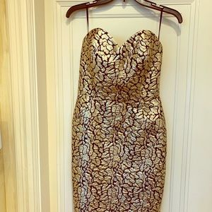 Strapless evening or party dress